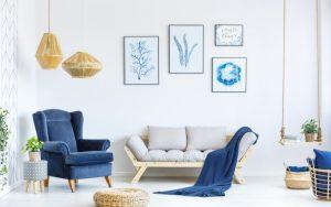 Cómo decorar paredes blancas