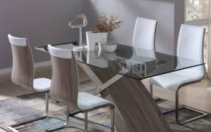 como decorar una mesa de cristal de comedor