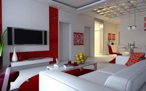 Decoración de salas con color rojo