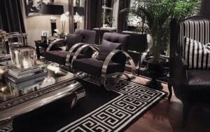 Decoración de salas modernas y lujosas