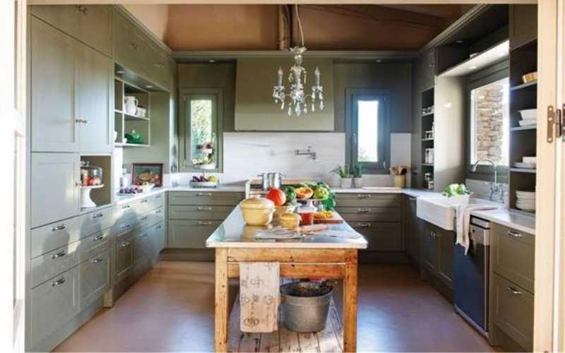 Ideas para cocinas-comedor rústicas y pequeñas - Decoratips