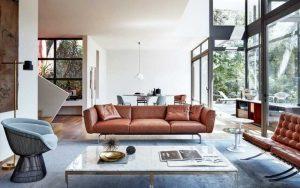 decoracion de salas con muebles marrones