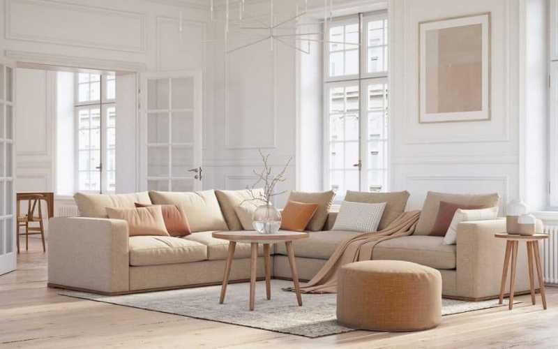 Ideas de cojines para combinar con un sofá Beige - Decoratips