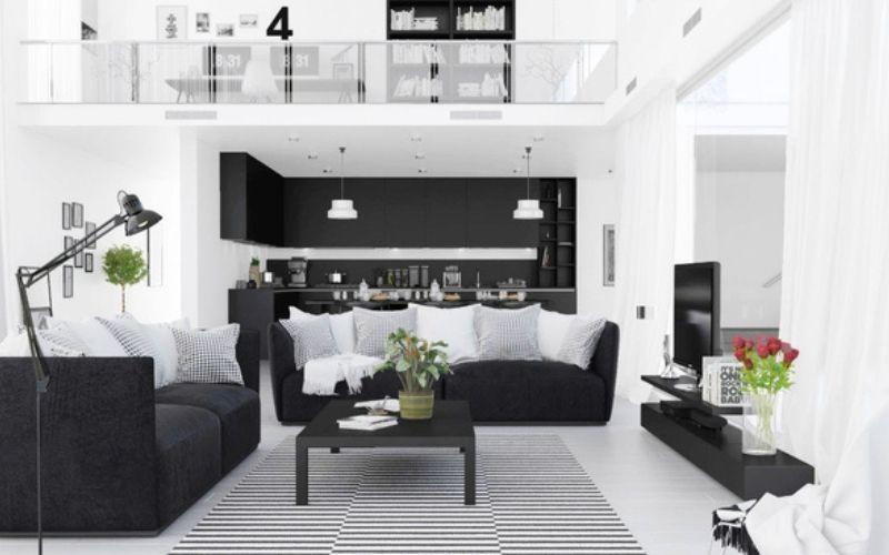 11 Ideas de salas Blancas y negras