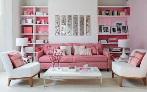 sala color rosa palo
