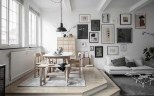 sala comedor gris