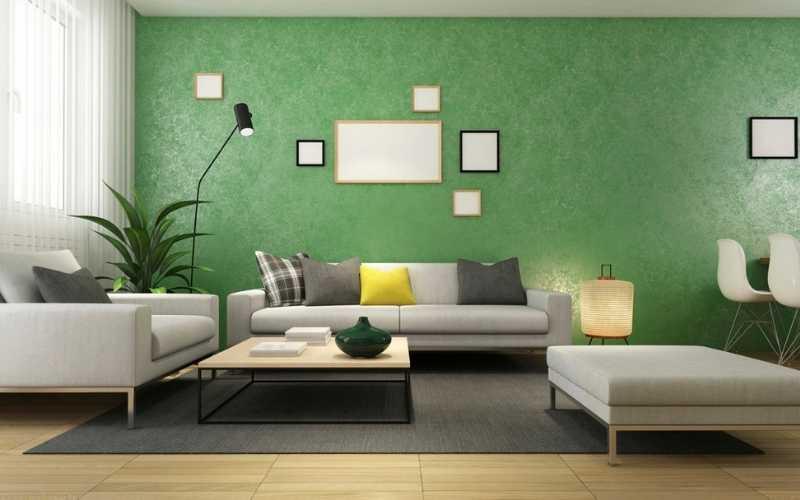 Salas en color verde - Decoratips