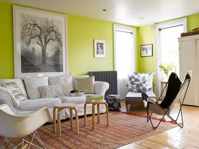 Ilumina tu salón con este tono de verde