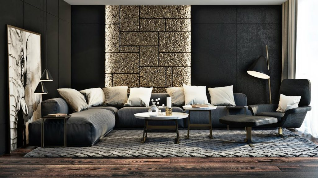 salon moderno bonito y lujoso