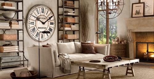 Un toque vintage para tu salón rústico y moderno con chimeneas