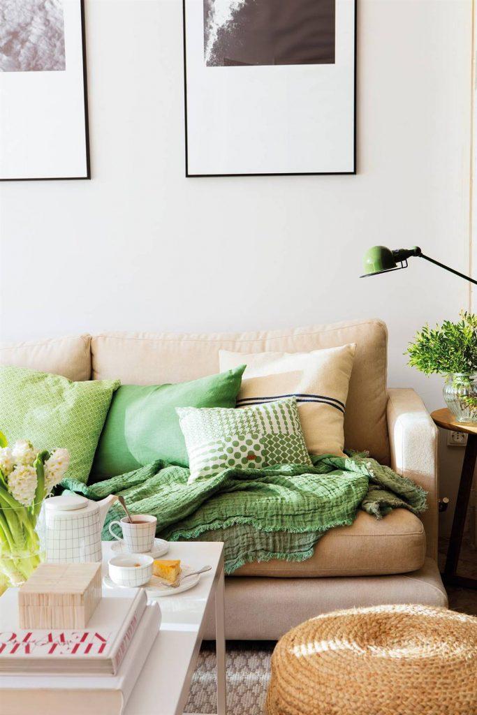 Salón con Verde como complemento