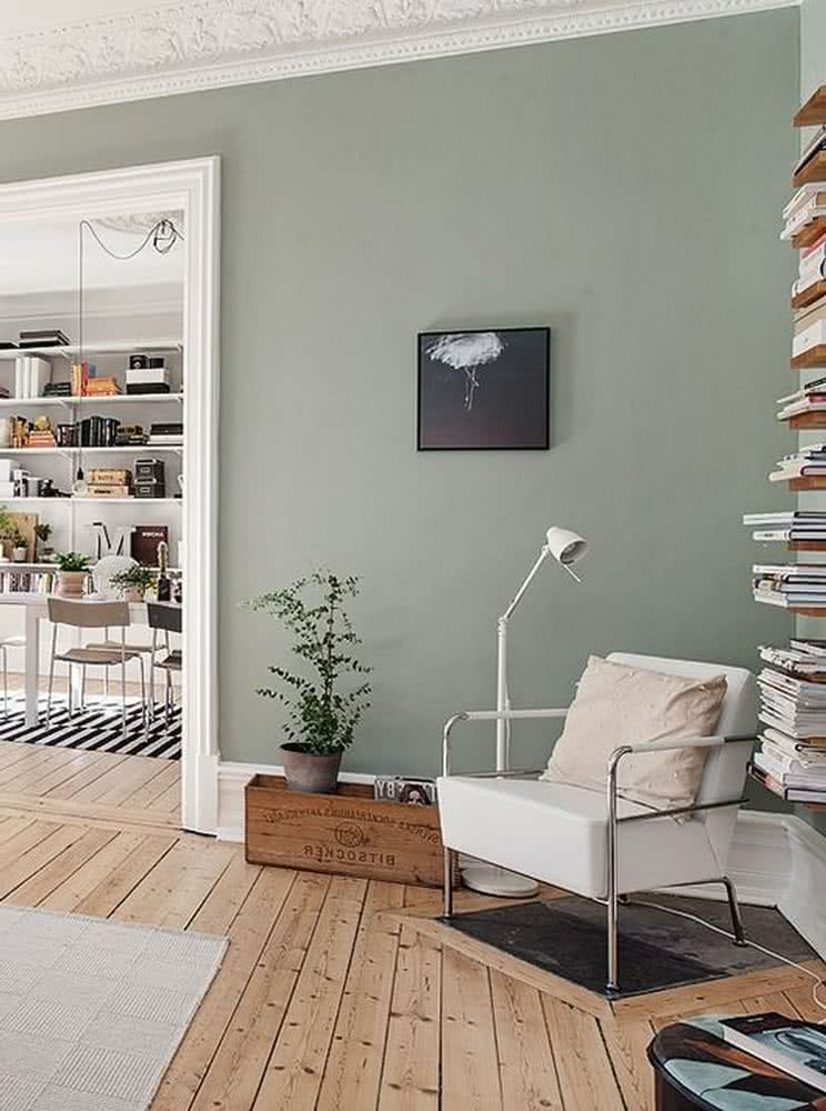 Verde tranquilizador para el salón