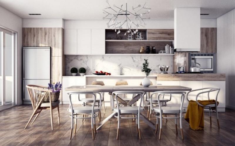 Ideas para decorar tu Cocina-Comedor al estilo Nórdico - Decoratips