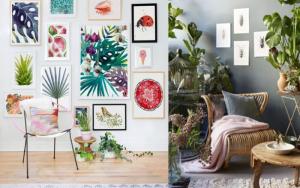 decorar un salon estilo tropical