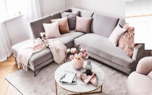 decorar un sofá con Mantas