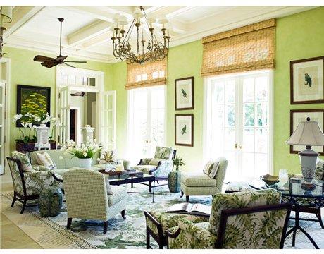 Haz de tu salón un jungla con tonos de verde