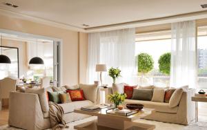 ideas para decorar el salon con cortinas