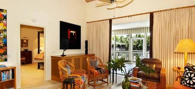 mobiliario tropical para el salón