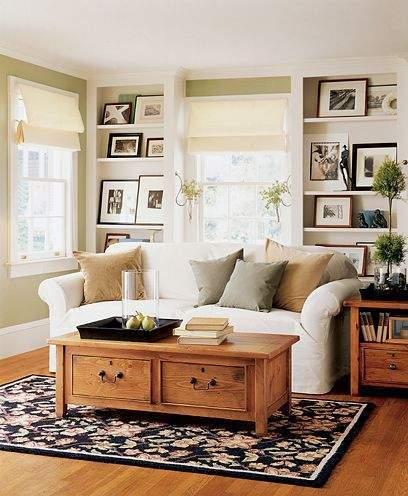 Sala rústica y pequeña con espacio optimo