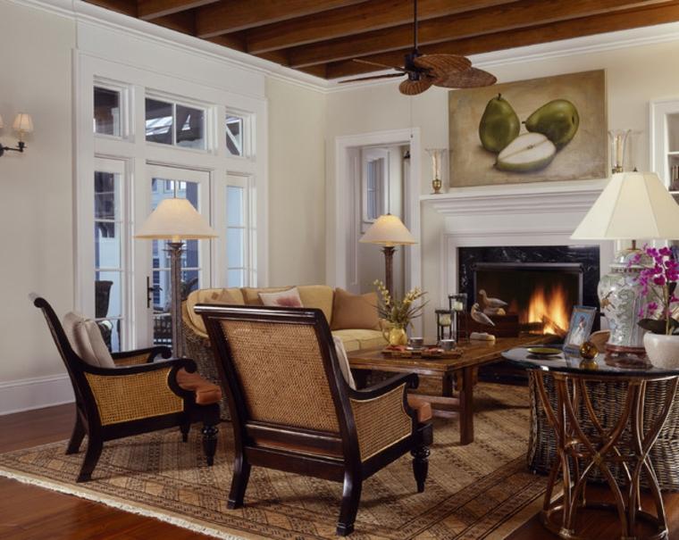Elegancia colonial para tu salón moderno