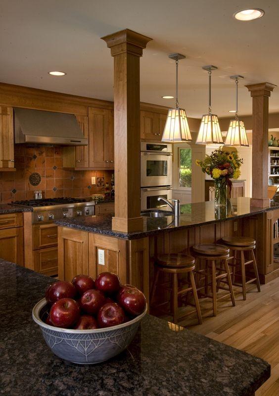 decoración para barras de cocina de madera