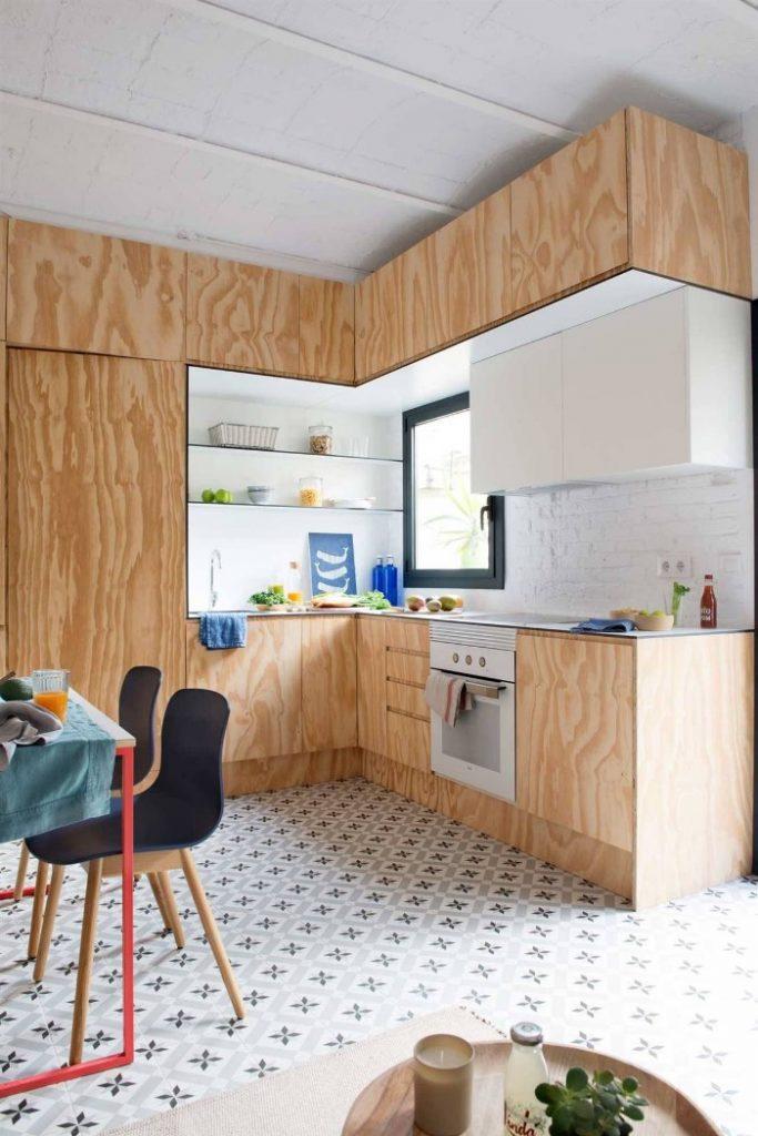 cocina pequeña con varios estilos