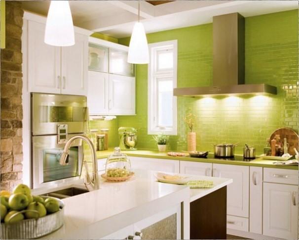 decorar la cocina en verde manzana