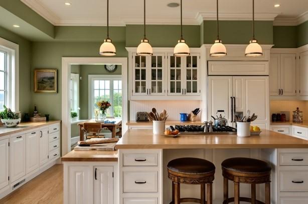 decorar la cocina verde elegante
