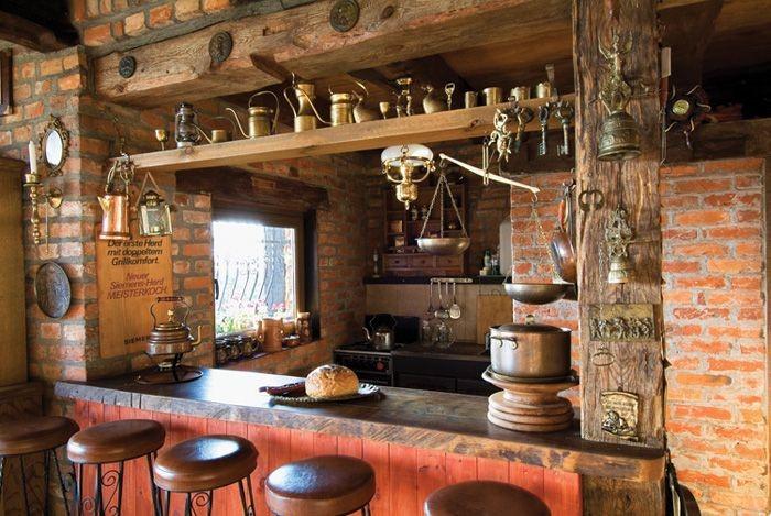 decoración para barras de cocina rústicas