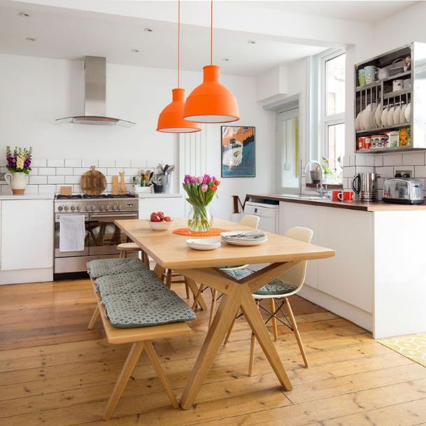 pintar tu cocina pequeña de color calidos