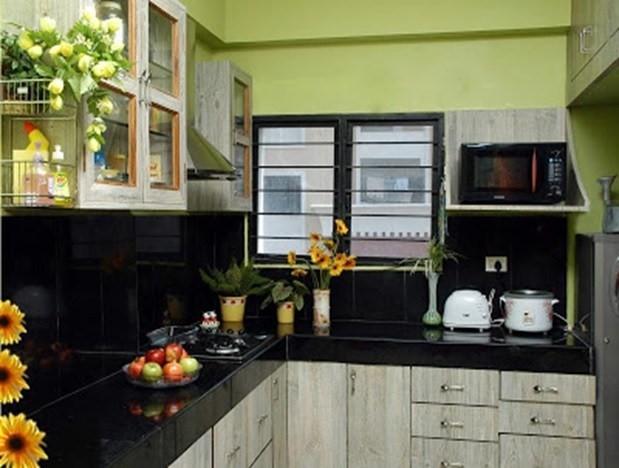 decorar la cocina verde y negro