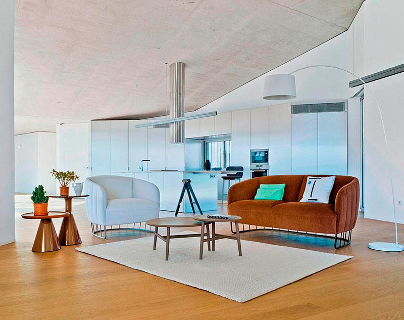 Salón Lujoso con muebles modernos