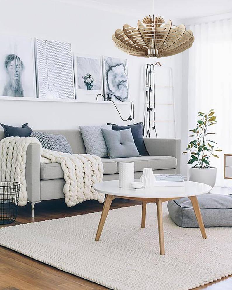 Muebles que le dan un toque nórdico a un salón pequeño