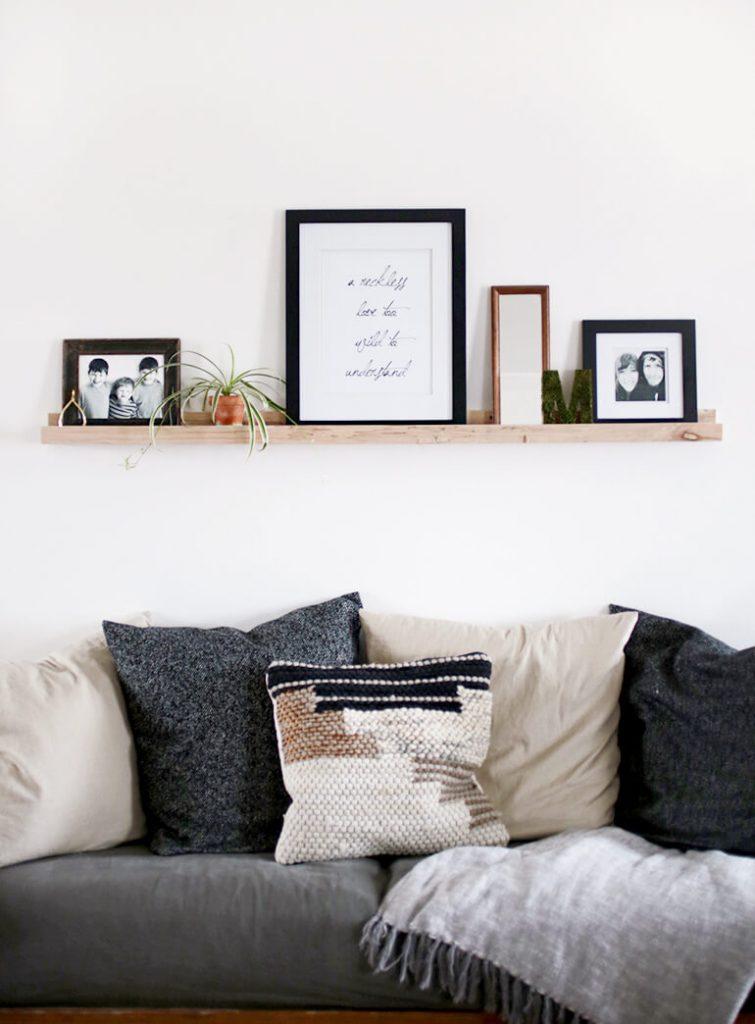 Personaliza un pequeño espacio del salon con el estilo nórdico