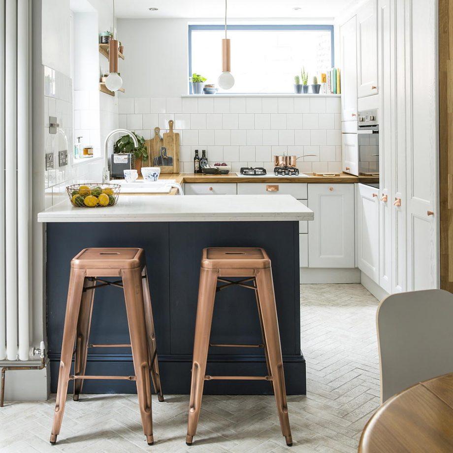 Un cocina en forma de L para unirla al salón