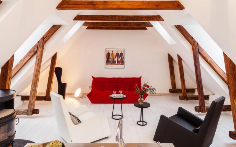 +15 Ideas para decorar el salón de un Ático - Decoratips