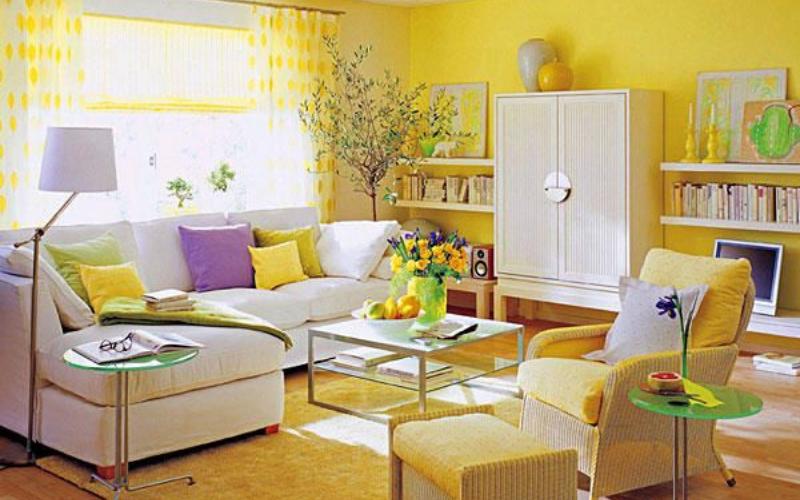 Tips para Decorar un salón Amarillo - Decoratips