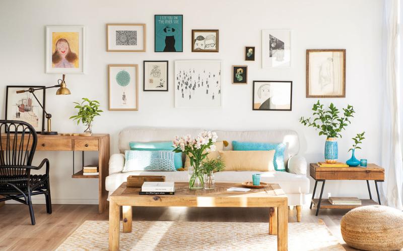 ¿Cómo Decorar la pared salón con fotos?