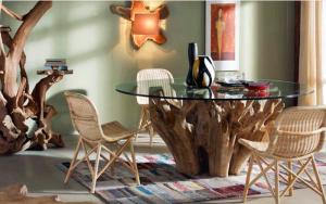 mesa tronco comedor