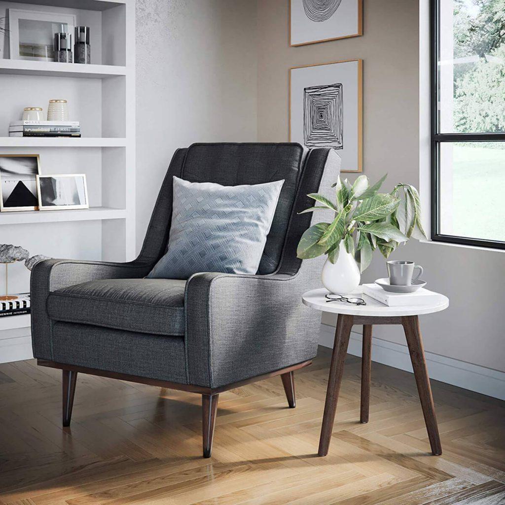 muebles sencillos y de calidad en salones nordicos