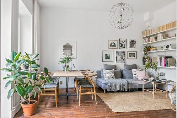 decorar un salón comedor de 20 metros cuadrados ordenado