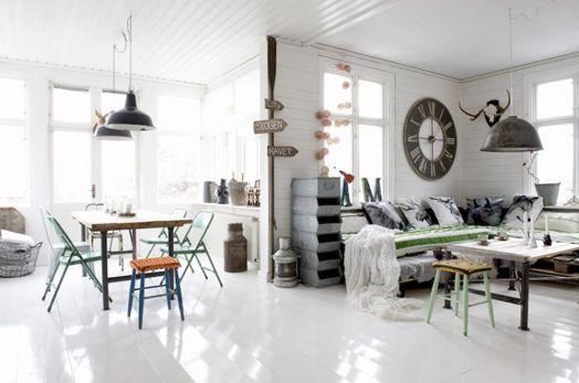 salon comedor nordico vintage
