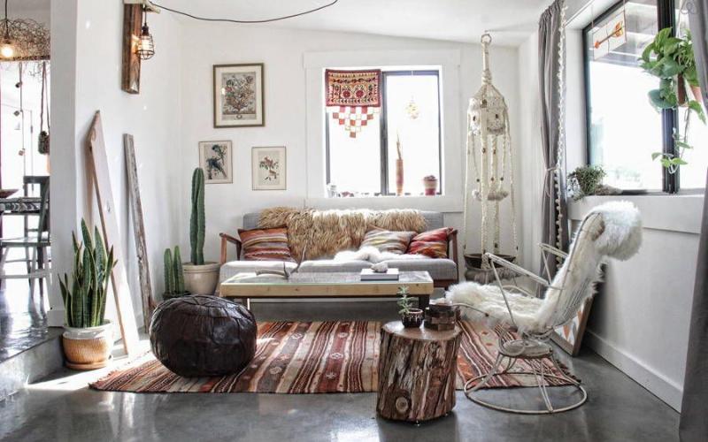 17 Salones con decoraciones étnicas que te encantarán - Decoratips