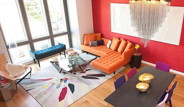 Explosión de color en el salón
