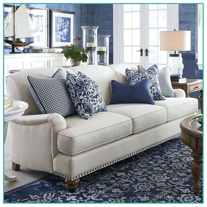sofá Gris con azul estilo maritimo