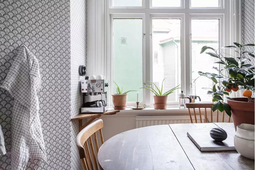 decorar una esquina del salón para amantes del cafe