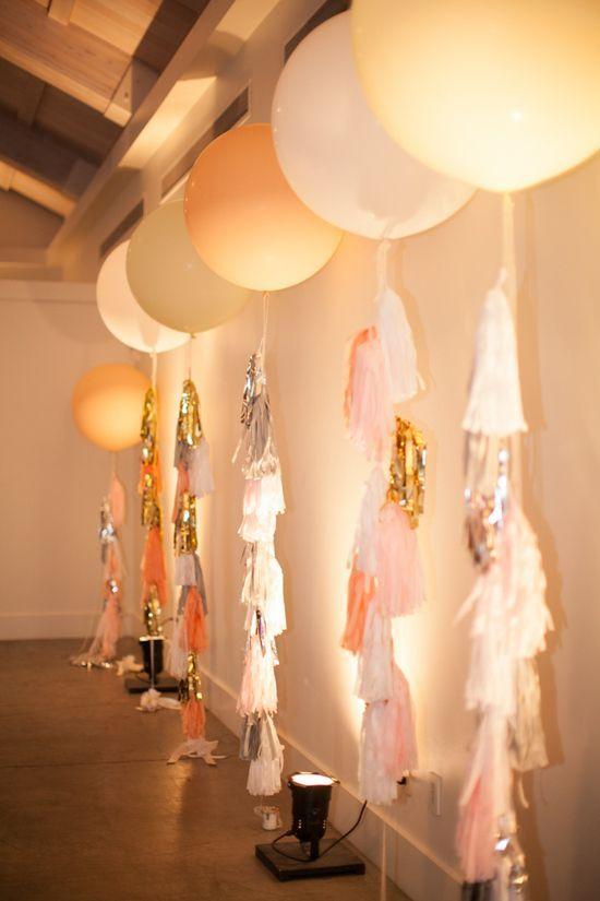 cuartos decorados con globos tassel