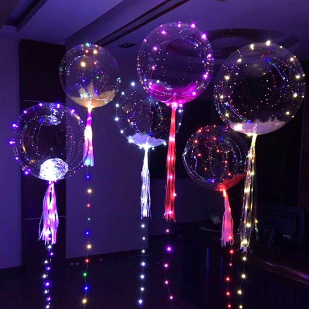 cuartos decorados  con globos con led