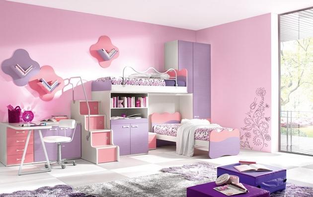 cuartos para niña de 11 años modernos con textiles