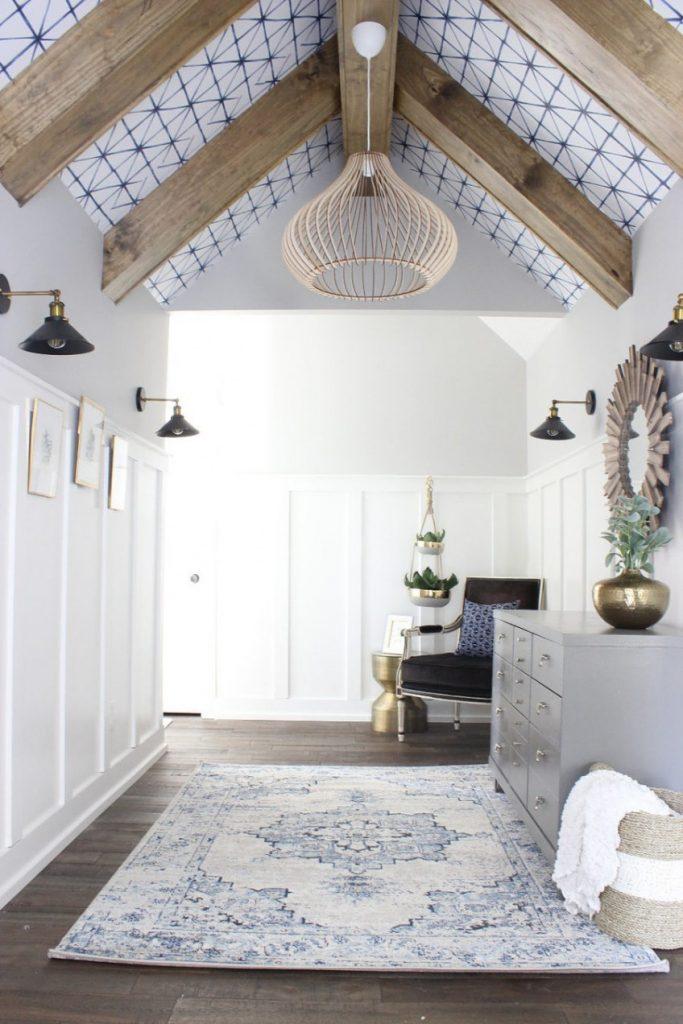 decorar el techo de los salones con madera